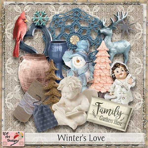 Designer spotlight LEA Art Design – Winter's Love bundle