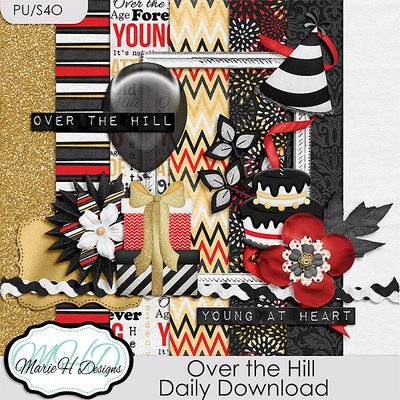 Over the Hill – Daily Download by Marie H Designs