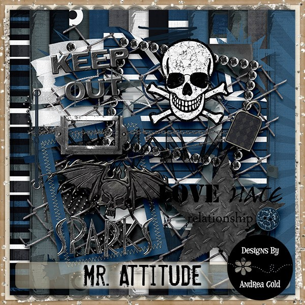 Mr. Attitude Scrapkit by Designs by Andrea Gold