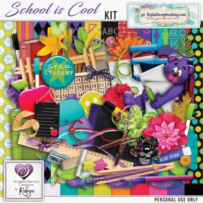 School is Cool by Scrapbookcrazy Creations by Robyn