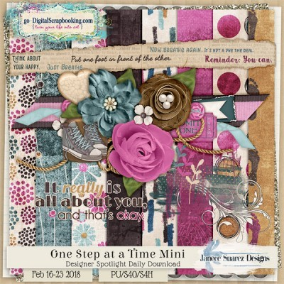 One Step At a Time Daily Download 16 to 23 Feb 2018 by Janece Suarez Designs