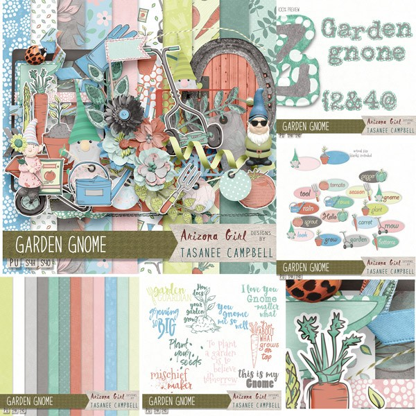 Garden Gnomes by A Fish Design and Arizona Girl
