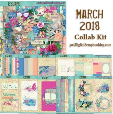 Escape, March 2018 GDS monthly collab kit