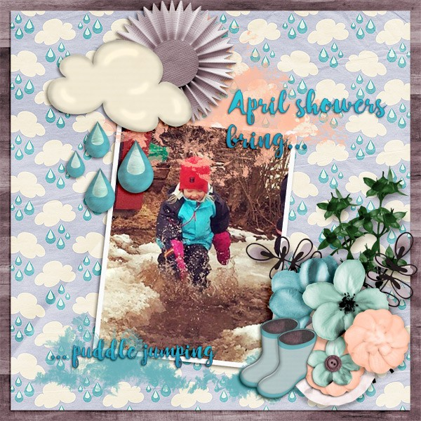 Designer spotlight and Daily Download April Showers mini by Dae Designs
