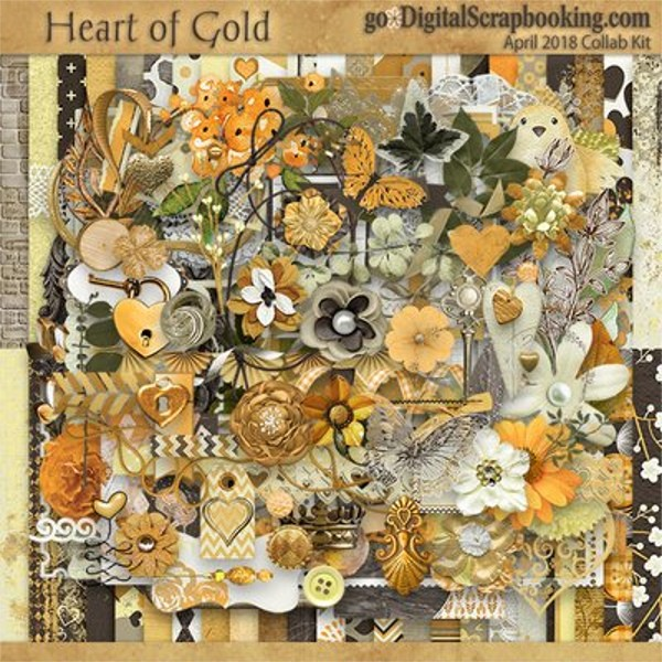 Heart of Gold – April 2018 Monthly Collab Kit