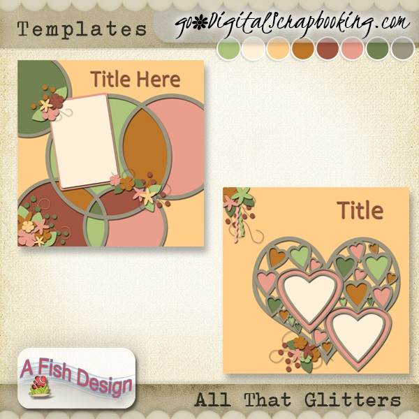 Spring to Life – NSD 2018 FWP Collab Kit and All That Glitters Templates by A Fish Design