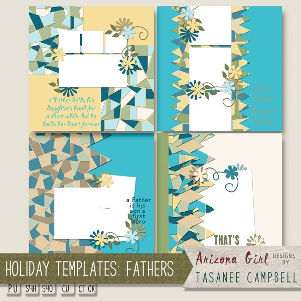 EMS Steampunk and Arizona Girl Holiday Templates Fathers