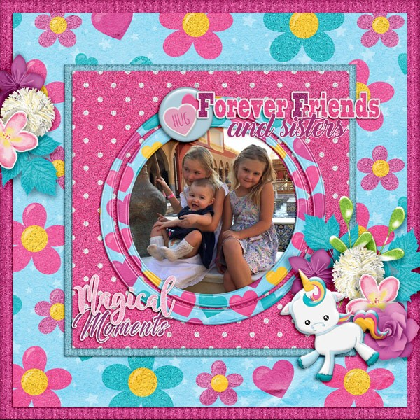 Rainbow the Unicorn kit by Scrapbookcrazy Creations by Robyn