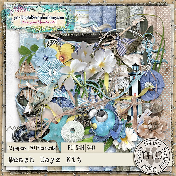 Beach Dayz by Dana's Footprint Digital Designs