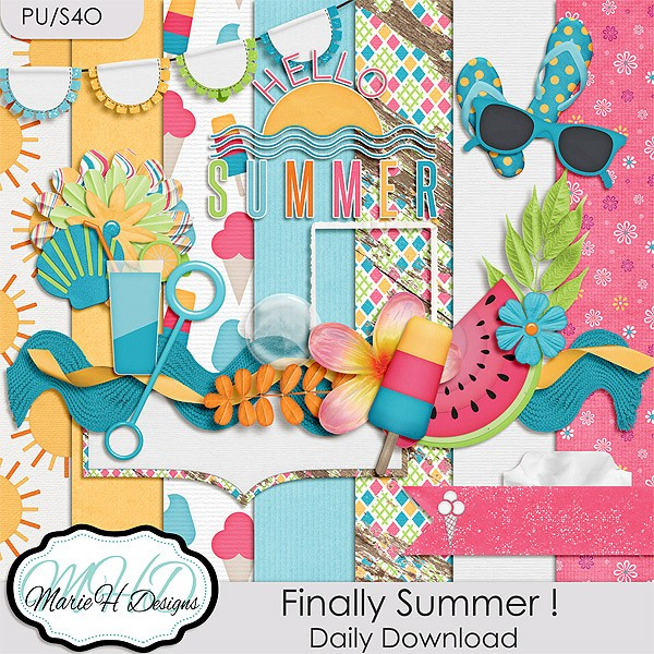 July 1-7 Daily Download – Finally Summer ! by Marie H Designs