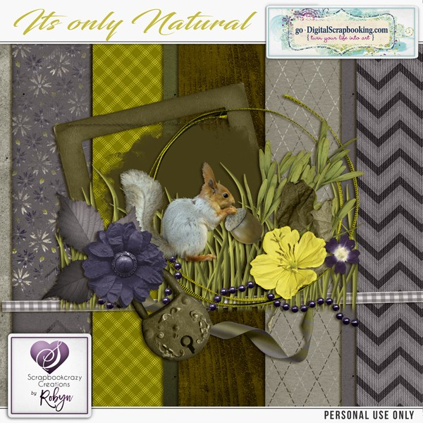 "Daily Download from Scrapbookcrazy Creations ""It's Only Natural"""