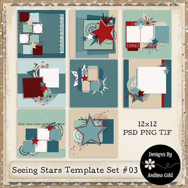 Weather Storms Kit and Seeing Stars Templates by Andrea Gold