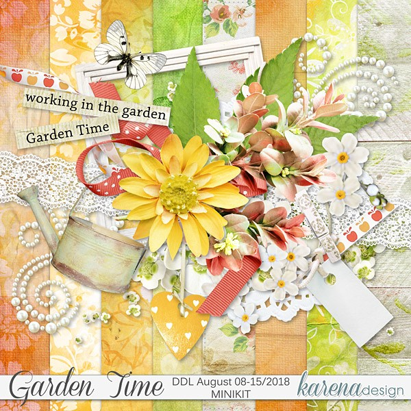 Karena Design's Garden Time Daily Downloads