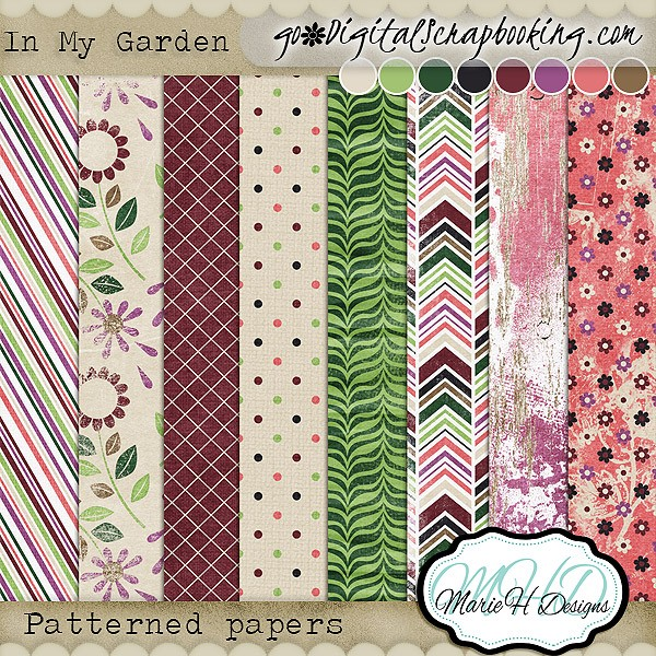 In My Garden Elements and Papers by Marie H Designs