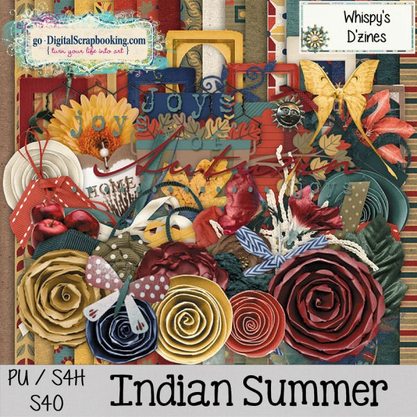 Indian Summer daily download minikit and page kit by Whispy's D'zines