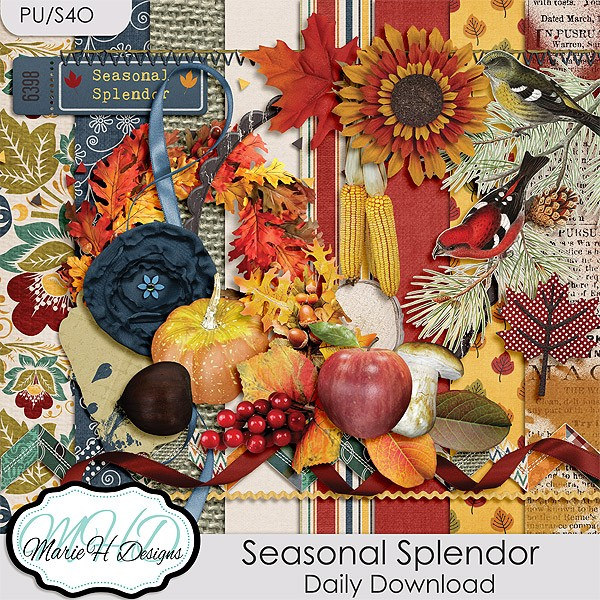 Seasonal Splendor – October 16-23 Daily Download by Marie H Designs