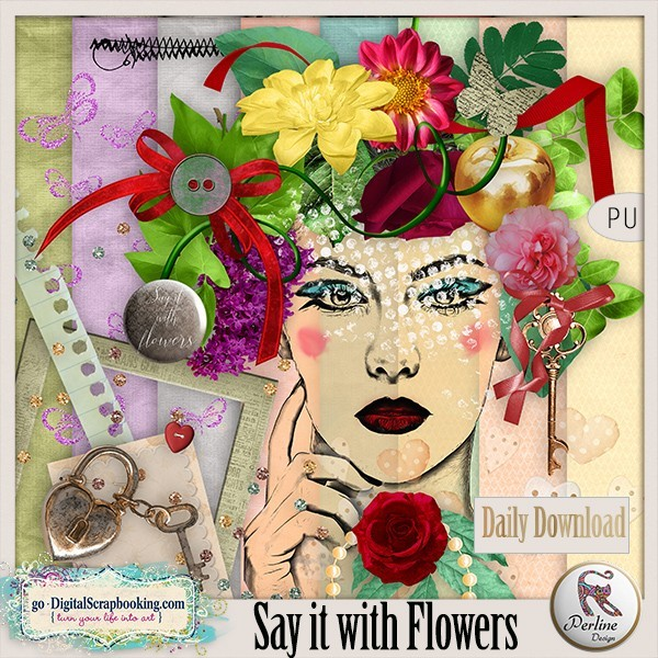 Perline Designs– Daily Download/Say It With Flowers