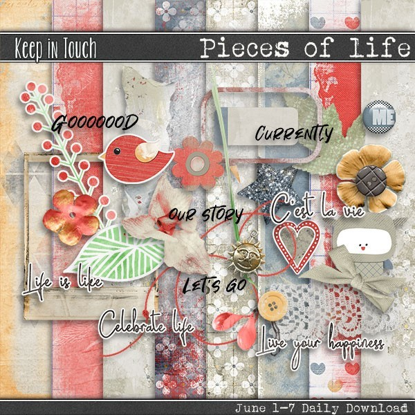 Keep in Touch designs Pieces of Life Daily Download